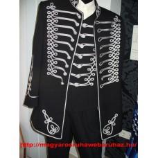 Atilla  öltöny fekete szürke zsinórral  2 RÉSZES